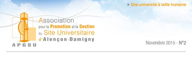 Association pour la Promotion et la Gestion du Site Universitaire d'Alençon-Damigny APGSU